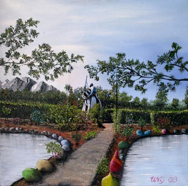 Nana im Park, Gemälde